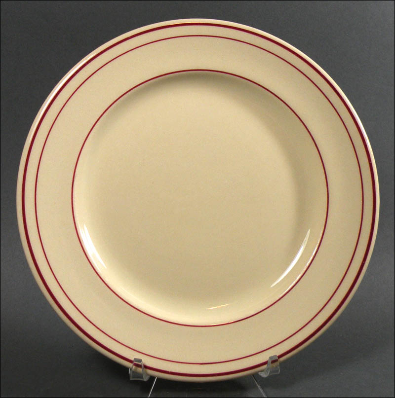 Carr China Glo-Tan Diner Dishes with Red Lines Pie Plates & Carr China Glo-Tan Diner Dishes with Red Lines: Pie Plates - $8.00 ...