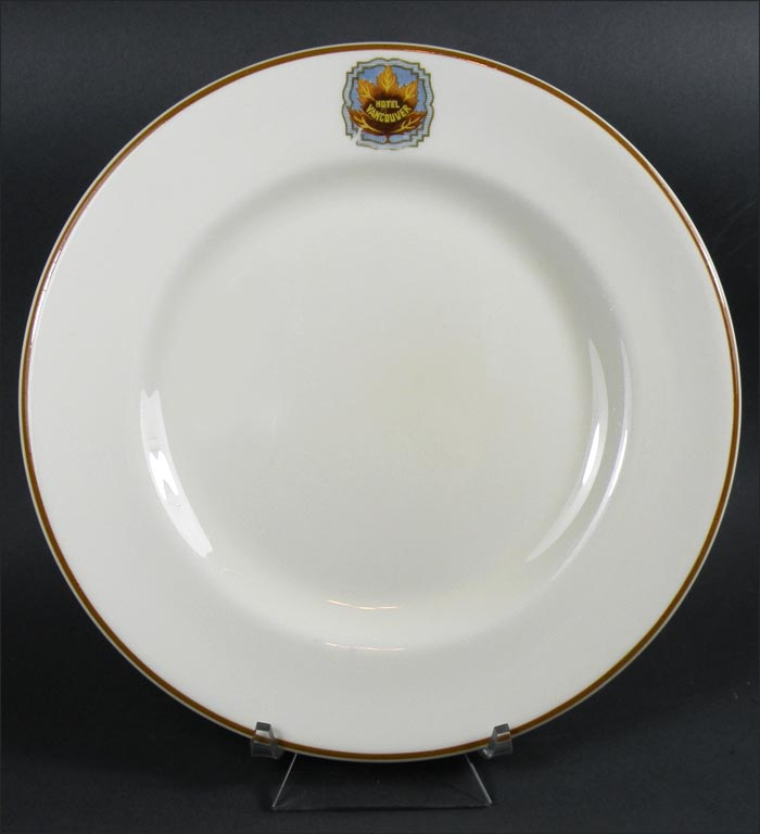 Hotel Collection Plates: Hotel Vancouver Plate